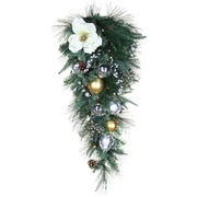 Christmas teardrop wreath