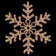 Outdoor Christmas Star and Snowflake Decorations
