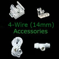4-wire 14mm Rope Light Accessories