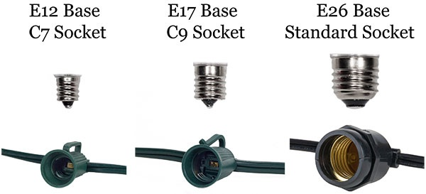 Examples of Bulb and String Socket Sizes