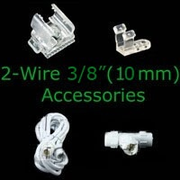 "2-wire 3/8"" Rope Light Accessories"