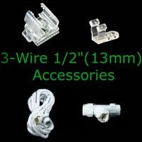 "3-wire 1/2"" Rope Light Accessories"