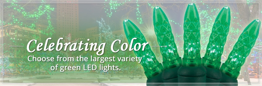 Green LED Christmas Lights