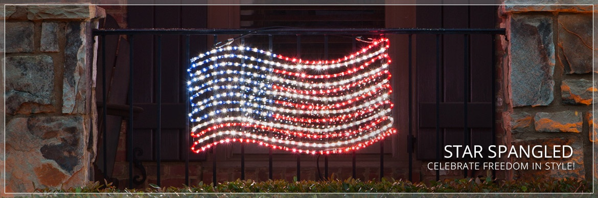 Patriotic Lights and Decorations