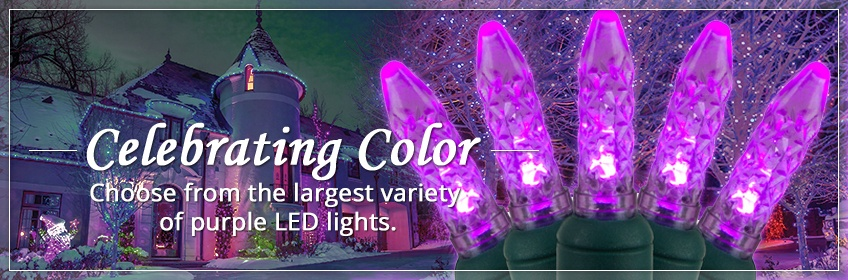 Purple LED Christmas Lights