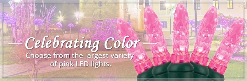 Pink LED Christmas Lights