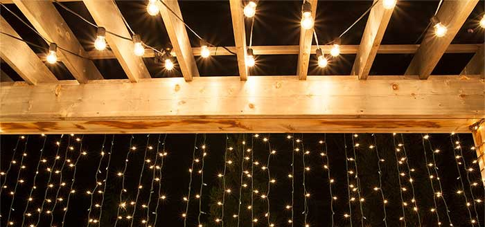 Hang patio lights and curtain lights