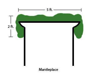 How to measure Christmas greenery for the perfect mantle decorations.