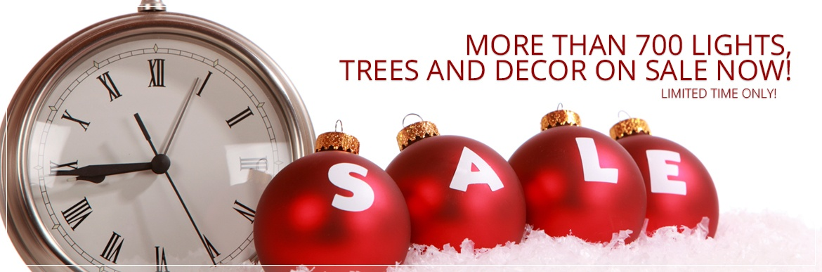 Christmas Lights, Trees and Decor on Sale Now!