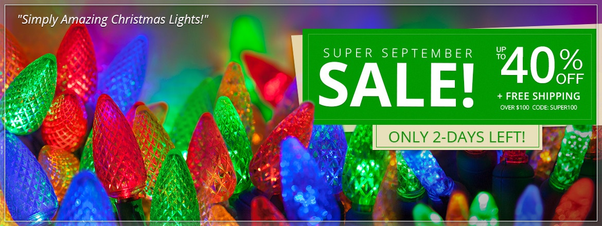 Super September Light Sale!