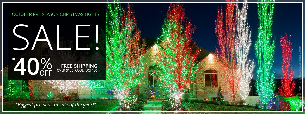 October Pre-Season Christmas Lights Sale!