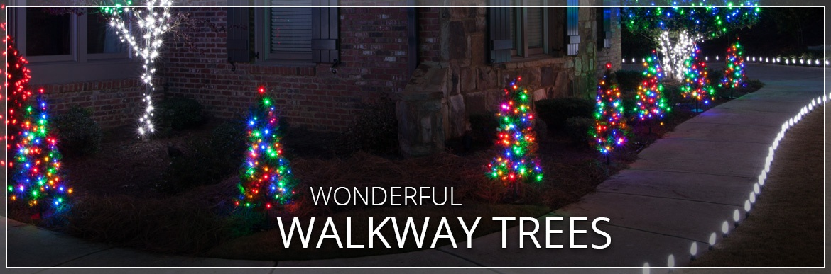 Walkway Christmas Trees