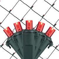 Red LED Net Lights
