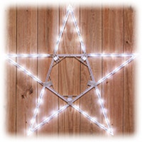 folding star Christmas lights