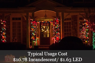 typical christmas lights power usage