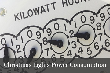 how much power do Christmas lights use?