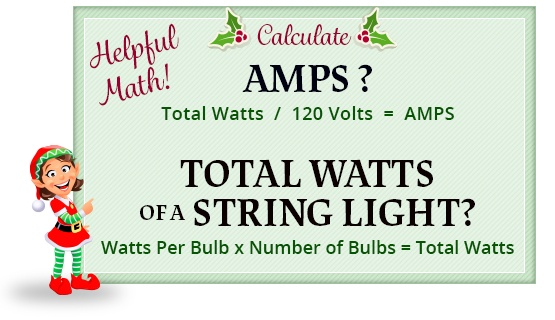 calculate total watts of a string light