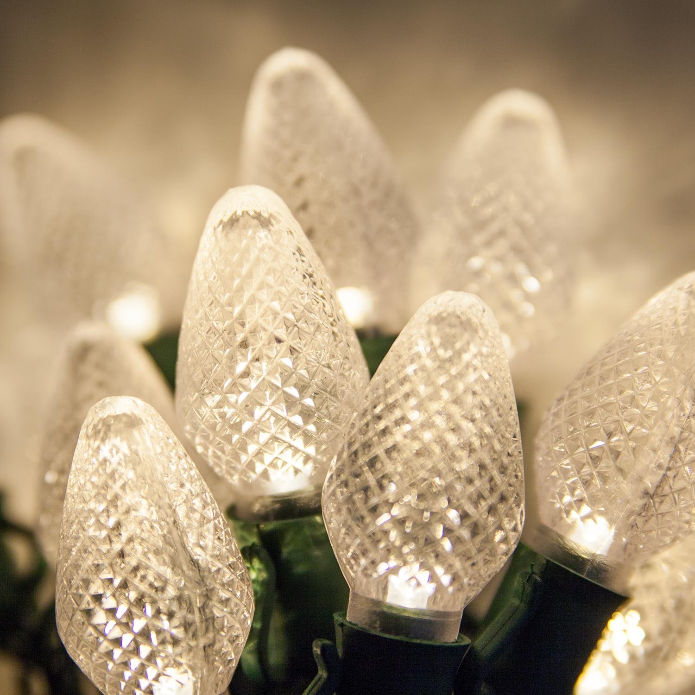 C7 warm white LED Christmas lights