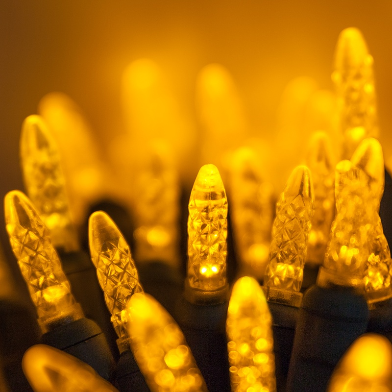 gold led christmas lights