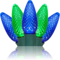 C9 blue and green led christmas string lights