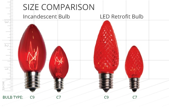 christmas light bulb sizes