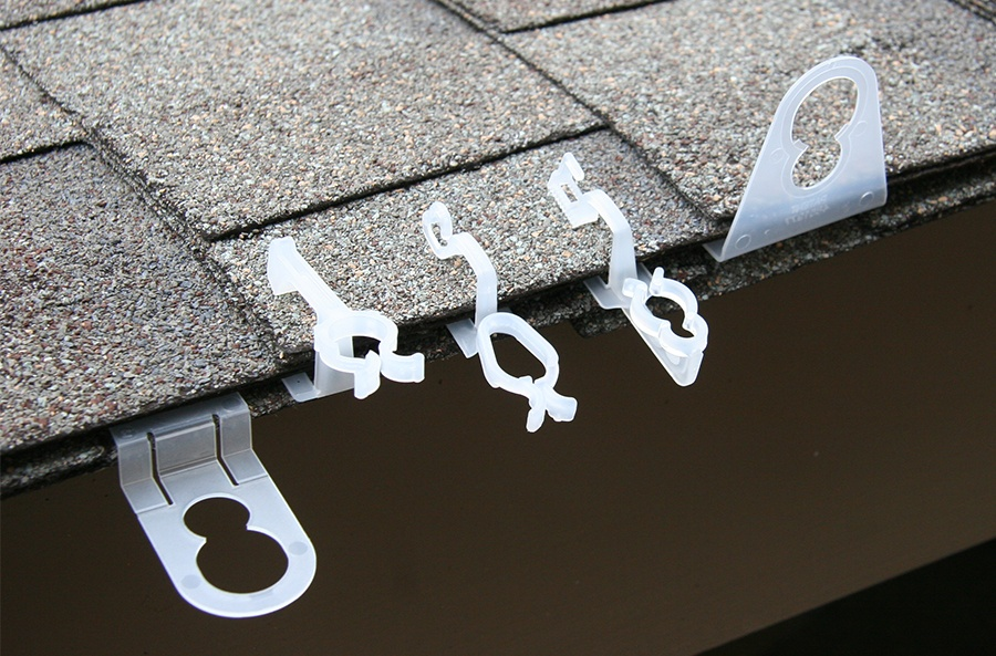 The right clip keeps Christmas lights in place for hassle free hanging!
