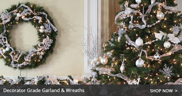 Christmas garland and wreaths