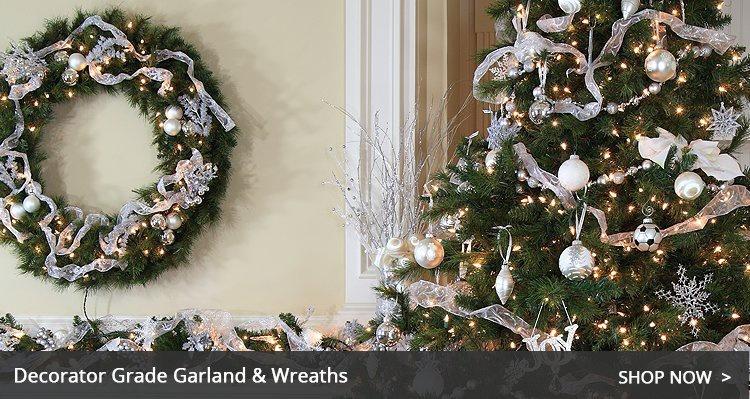 Christmas garland and wreaths