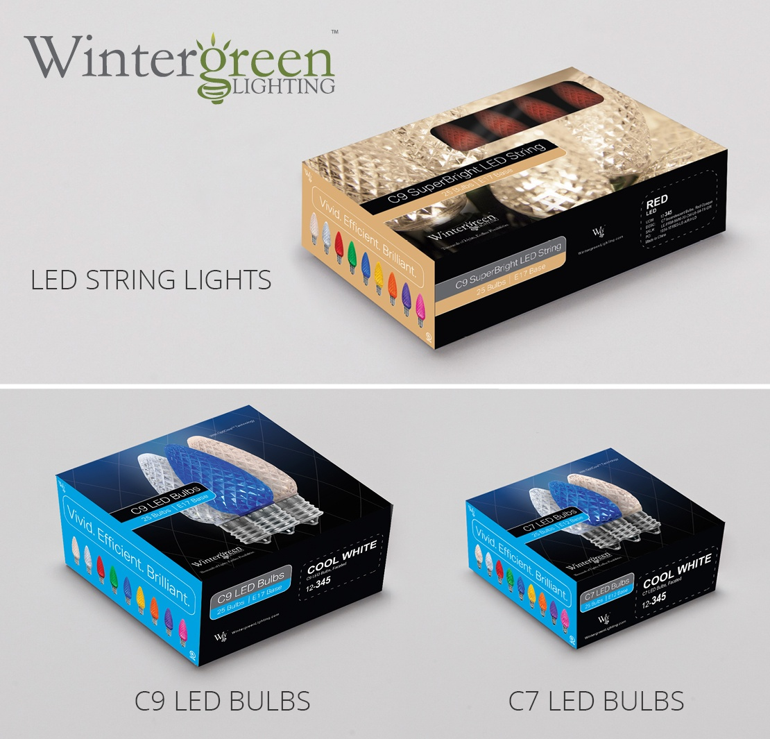 LED Christmas light strings and bulbs from Wintergreen Lighting