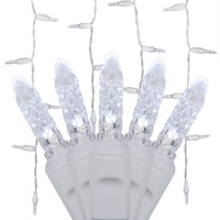 Cool white LED Icicle Christmas lights