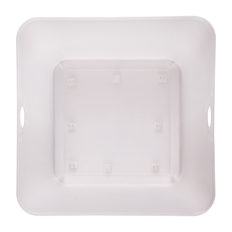 Place adhesive clips at the bottom of your plastic container to secure your light strings.