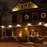A collection of Christmas porch decorating ideas.