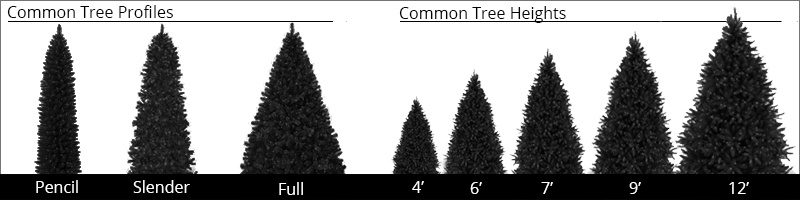 Prelit Christmas Tree Heights