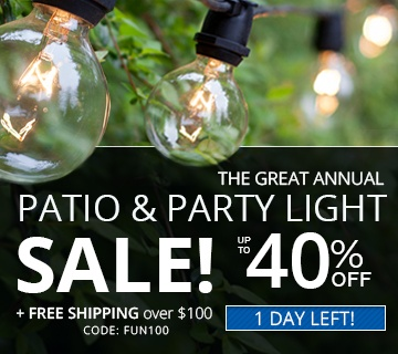 The Great Annual Patio and Party Light Sale!