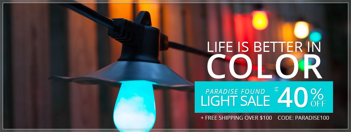 Color Patio Lights Sale!