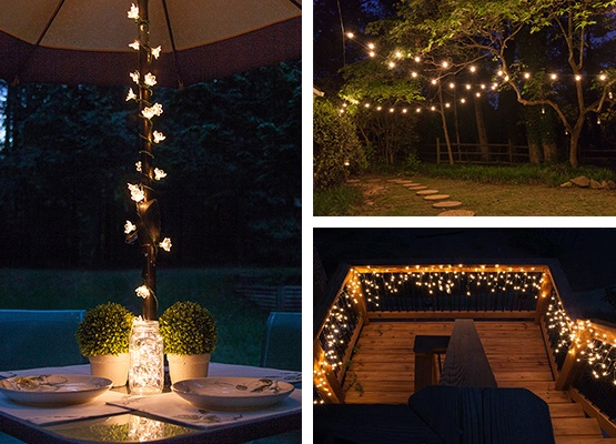String lights for patio pinterest just b cause for Balcony lights