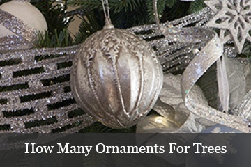 Recommended Number of Ornaments for Christmas Trees
