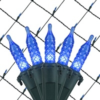 Blue LED Christmas Net Lights