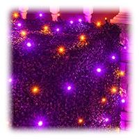 Amber/Orange and Purple Halloween Net Lights