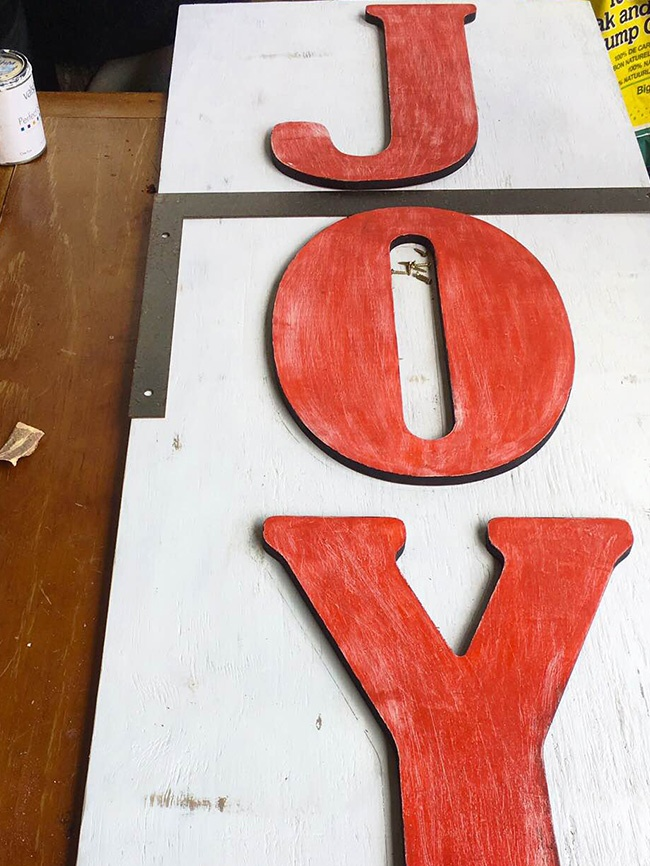How to Make DIY Marquee Letters for Christmas
