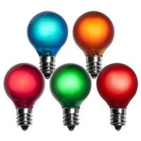 G30 Multicolor Satin Patio Light Bulbs