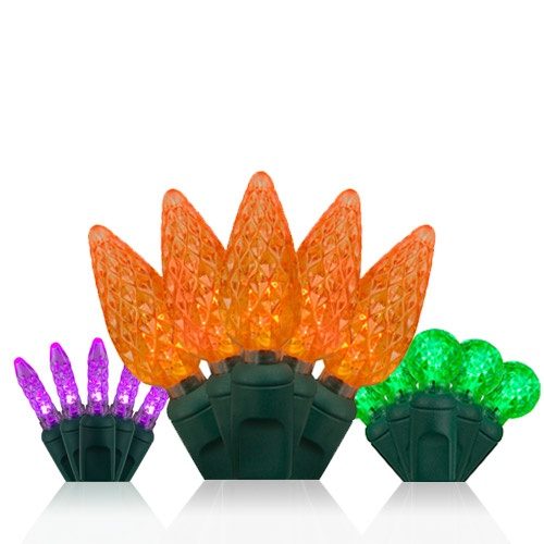 LED Mini Lights in Halloween Colors