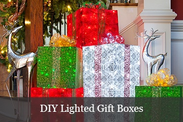 DIY Lighted Christmas Gift Boxes