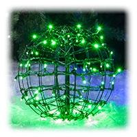 Green LED Lighted Sphere