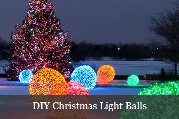 How to Make DIY Christmas Light Balls