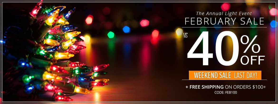 The Annual Light Event February Sale!