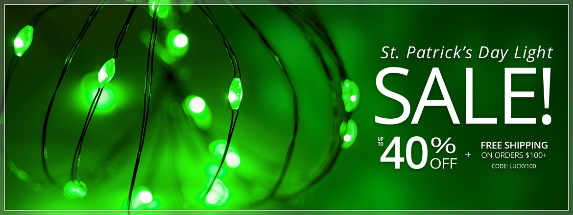 St. Patrick's Day Green Lights Sale!