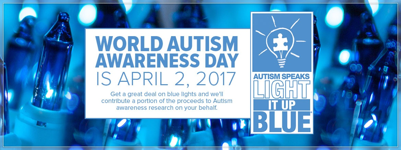 Autism Awareness Blue Christmas Lights