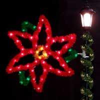 Colorful Christmas pole mounts