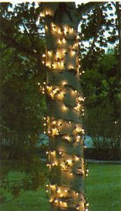 """Led Shop Lights >> Christmas Net Lights - 6"""" W x 15' H Trunk Wrap - 150 Clear Lights, Green Wire"""